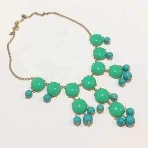 J. Crew Bubble Statement Necklace green/turquoise